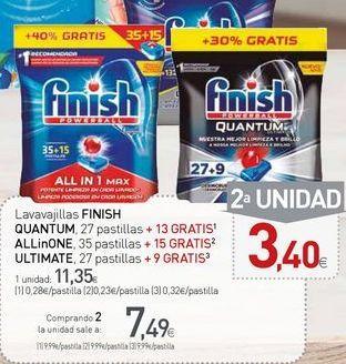 Oferta de Detergente lavavajillas Finish por 11,35€