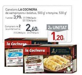 Oferta de Canelones La Cocinera por 3,99€