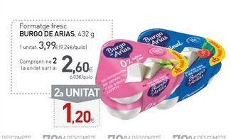 Oferta de Queso Burgo de Arias por 3,99€