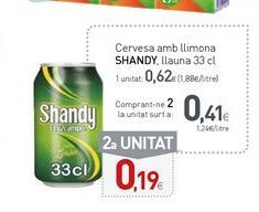 Oferta de Cerveza con limón Shandy por 0,62€