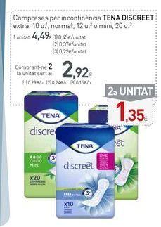 Oferta de Compresas de incontinencia Tena por 4,49€