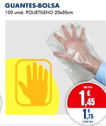 Oferta de Guantes-Bolsa por 1,75€
