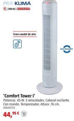 Oferta de Ventilador torre por 44,95€
