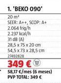 Oferta de Aire acondicionado Beko por 349€