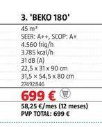 Oferta de Aire acondicionado Beko por 699€