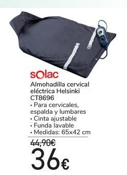 Oferta de Almohadilla cervical eléctrica Helsinki CT8696 por 36€