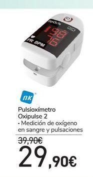 Oferta de Pulsioxímetro Oxipulse 2 por 29,9€
