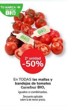 Oferta de En TODAS las mallas y bandejas de tomates Carrefour BIO, por