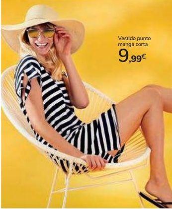 Oferta de Vestido punto manga corta por 9,99€