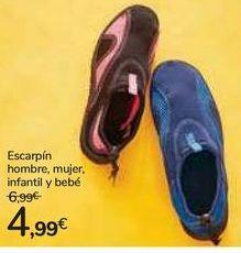 Oferta de Escarpín hombre, mujer, infantil y bebé por 4,99€