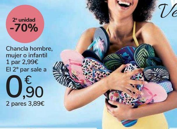 Oferta de Chancla hombre, mujer o infantil  por 2,99€