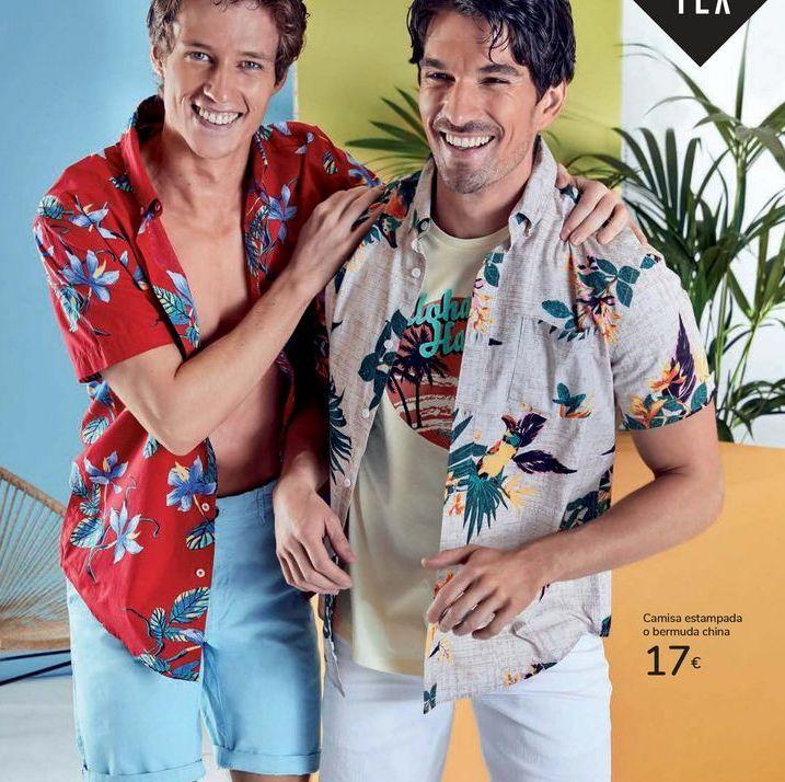 Oferta de Camisa estampada o bermuda china  por 17€