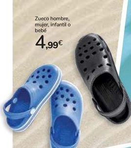 Oferta de Zuecos hombre, mujer, infantil o bebé  por 4,99€