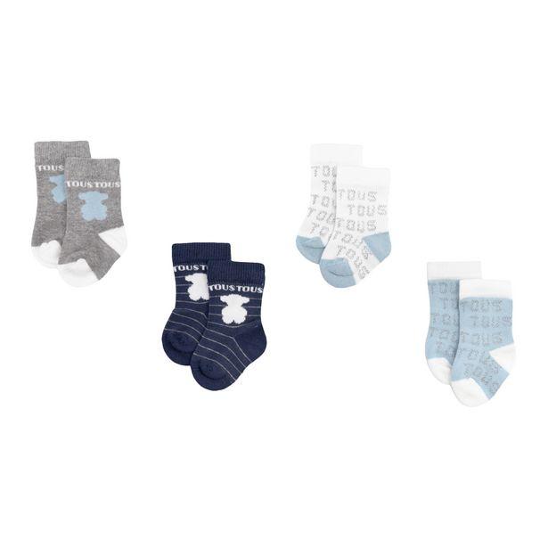 Oferta de Pack 4 calcetines Sweet Socks Azul celeste por 25€