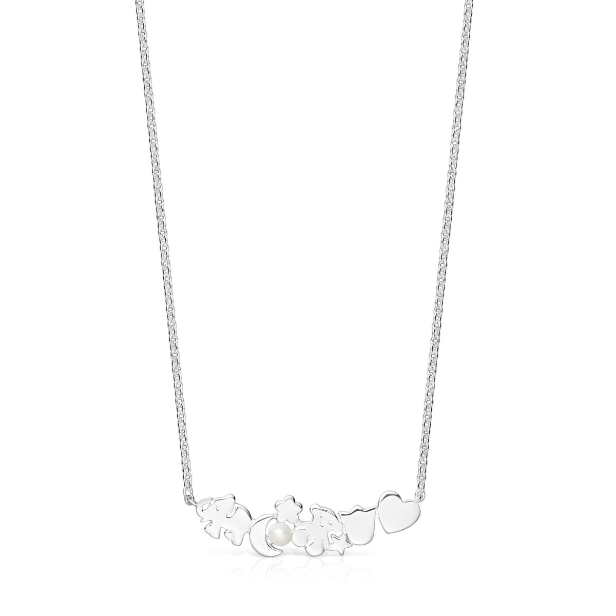 Oferta de Collar Nocturne motivos de Plata con Perla por 90€