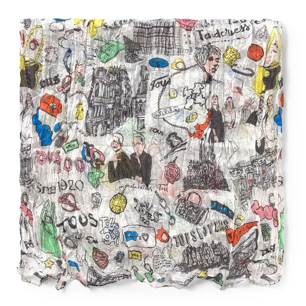 Oferta de Pañuelo Tous Centenary plisado multicolor por 59€