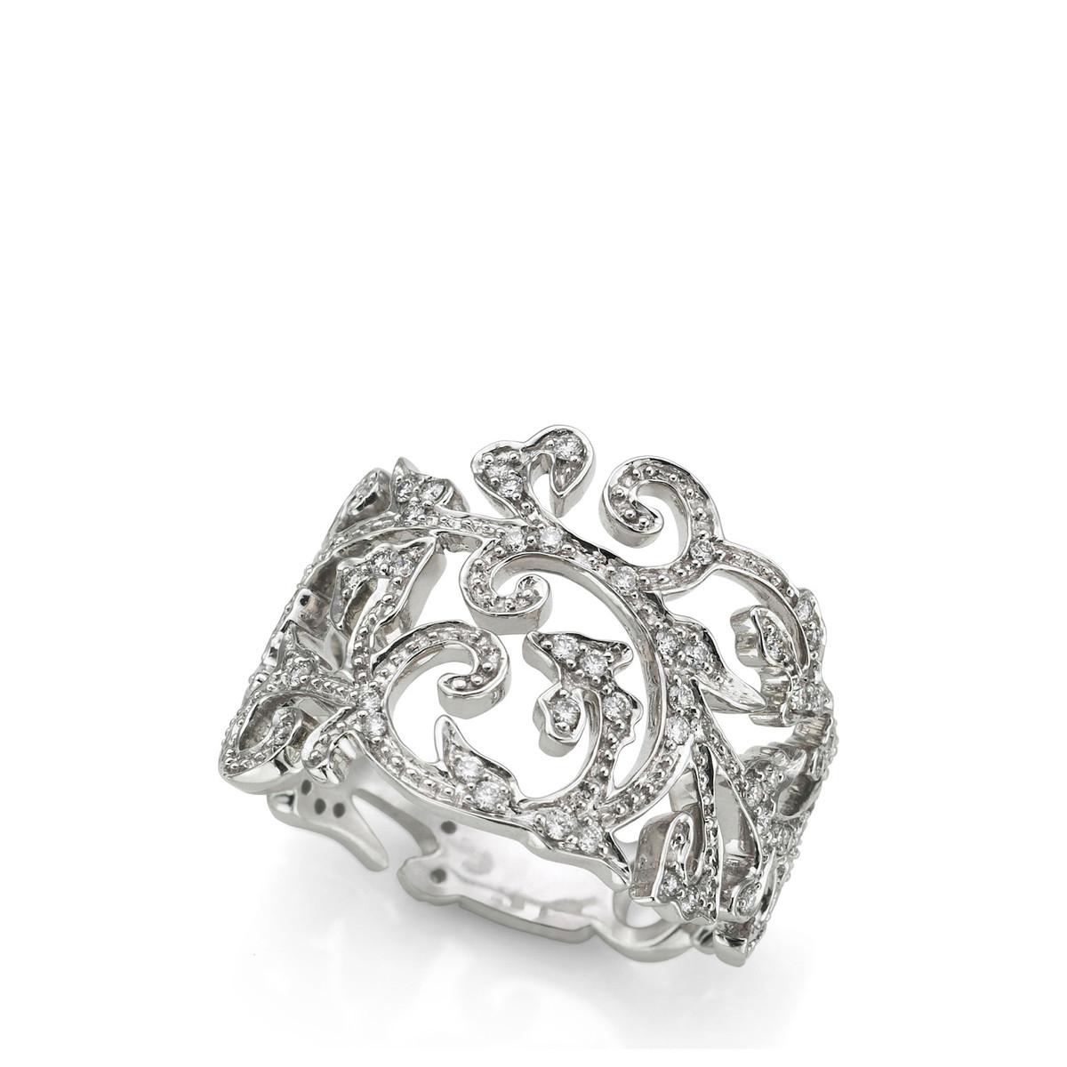 Oferta de Anillo Ivy de Oro blanco por 1046€