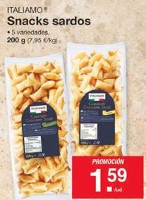 Oferta de Snacks sardos Italiamo por 1,59€