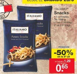 Oferta de Snacks Italiamo por 1,29€