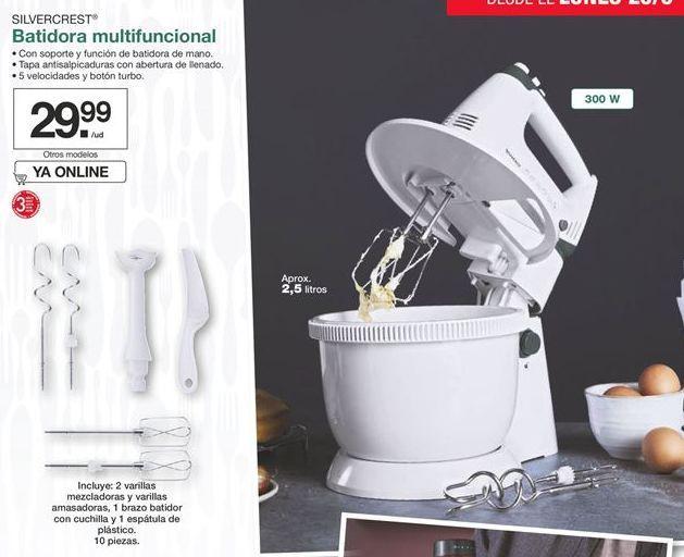 Oferta de Batidora multifuncional Silvercrest por 29,99€