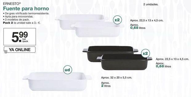 Oferta de Fuente para horno Ernesto  por 5,99€