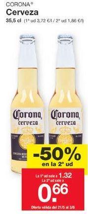 Oferta de Cerveza Corona por 1,32€