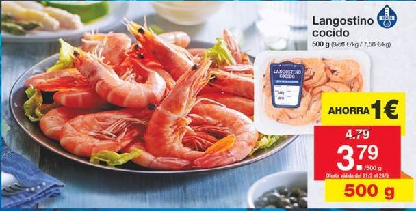 Oferta de Langostino cocido por 3,79€