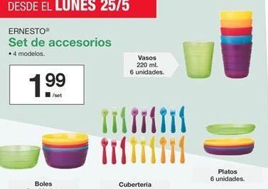 Oferta de Set de accesorios Ernesto  por 1,99€