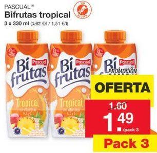 Oferta de Bifrutas tropical PASCUAL por 1,49€