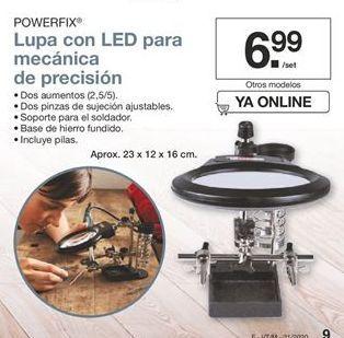 Oferta de Lupa con LED para mecánica de precisión Powerfix por 6,99€