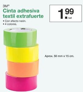 Oferta de Cinta adhesiva textil extrafuerte  por 1,99€