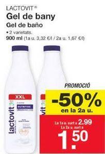 Oferta de Gel de baño LACTOVIT por 2,99€