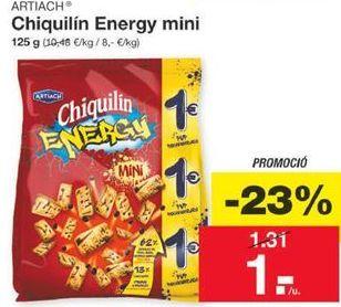 Oferta de Chiquilín Energy mini por 1€