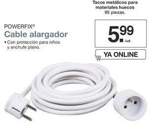 Oferta de Cable alargador Powerfix por 5,99€