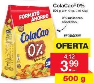 Oferta de ColaCao 0% por 3,99€