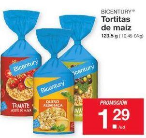 Oferta de Tortitas de maíz Bicentury por 1,29€