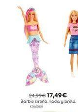 Oferta de Barbie sirena nada y brilla por 17,49€