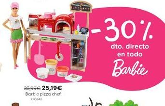 Oferta de Barbie pizza chef por 25,19€