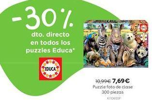 Oferta de Puzzle foto de clase 300 piezas por 7,69€