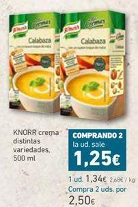 Oferta de Cremas Knorr por 1,34€