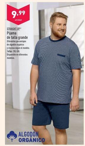 Oferta de Pijama de talla grande Straight Up por 9,99€