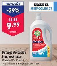 Oferta de Detergente básico Limpio&Fresco  por 9,99€