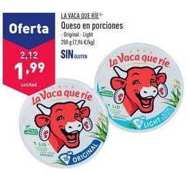 Oferta de Queso en porciones La vaca que ríe por 1,99€