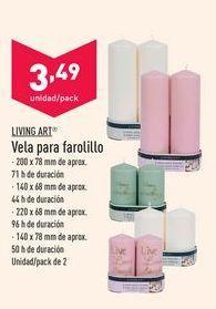 Oferta de Vela para farolillo Living Art por 3,49€