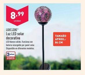 Oferta de Luz LED solar decorativa por 8,99€