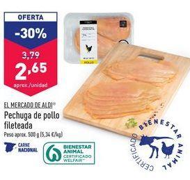 Oferta de Pechuga de pollo fileteada EL MERCADO DE ALDI por 2,65€