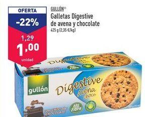 Oferta de Galletas Digestive de avena y chocolate Gullón por 1€