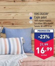 Oferta de Cojín palet Home Creation por 16,99€