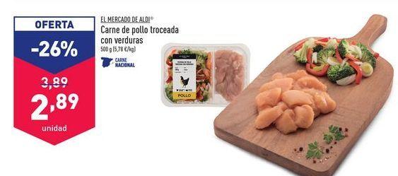 Oferta de Carne de pollo troceada con verduras EL MERCADO DE ALDI por 2,89€