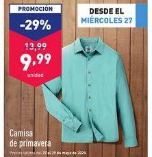 Oferta de Camisa de Primavera por 9,99€